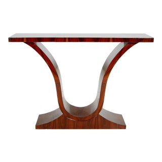Art Deco Style Rosewood Console Table For Sale