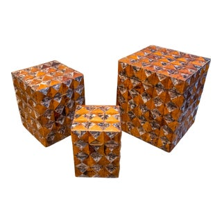 Maitland Smith Mother of Pearl Decorator Boxes - Set of 3 For Sale