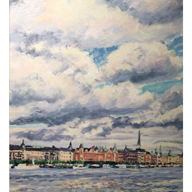 """Old Stockholm"" Oil on Canvas Painting by Thomas Van Stein For Sale - Image 4 of 13"