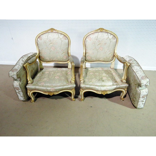 Pair of Louis XV Style Fauteuils For Sale - Image 10 of 13