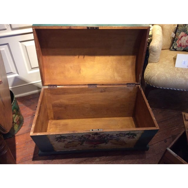 Dome-Top Hand-Painted Blanket Chest - Image 4 of 9