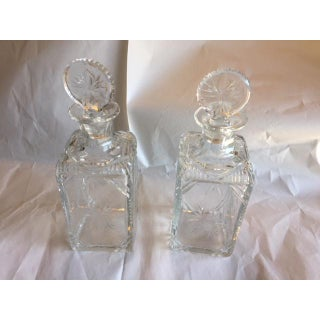 19th Century English Etched Decanter - a Pair Preview