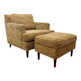 Mid-Century Modern Danish Modern Selig Club Chair & Ottoman