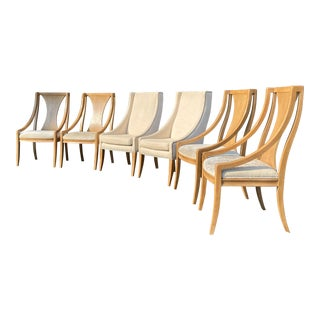 Bernhardt Monterey Collection Saber Leg Dining Chairs - Set of 6 For Sale