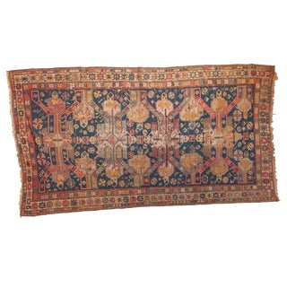 "Antique Soumac Rug - 4'5"" x 8'3"" For Sale"