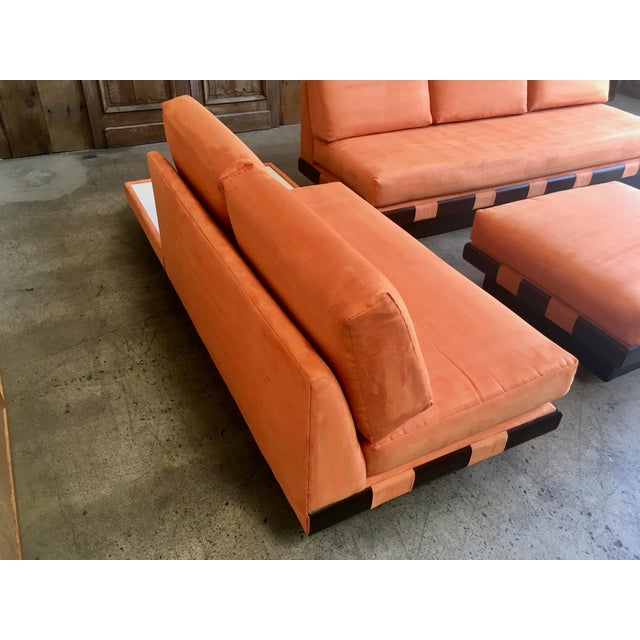 20th Century Adrian Persall Style Sofa Sectional and Coffee Table - 3 Pieces For Sale In Los Angeles - Image 6 of 13