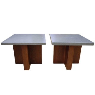 Pair of Side Tables or Nightstands Coffee Tables by Cr Design For Sale