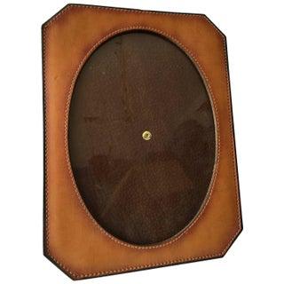 Vintage Natural Leather Frame For Sale