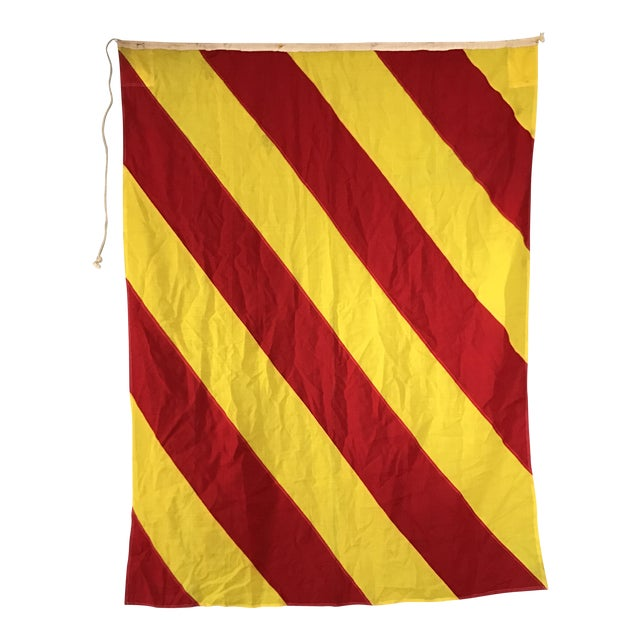 "Vintage Nautical Flag Signal ""Y"" For Sale"