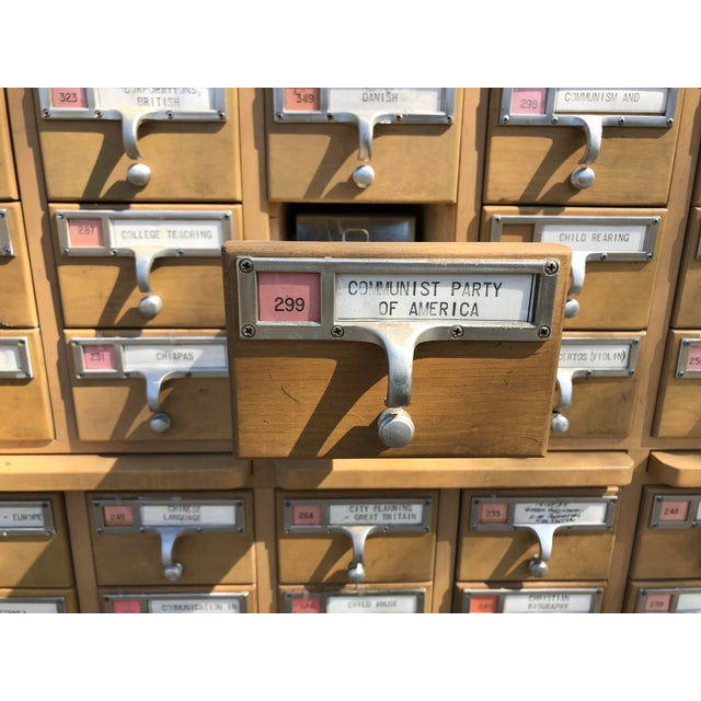 Mid-Century 72-Drawer Library Card Catalogs For Sale In South Bend - Image 6 of 12