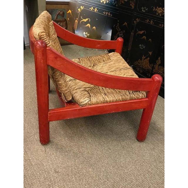 Mid Century Signed Cassina Italian Carimate Chair - Rush Seat - Image 4 of 8
