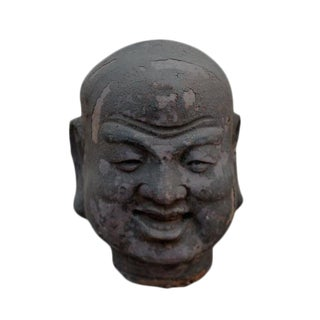 Smiling Luohan Clay Sculpture For Sale
