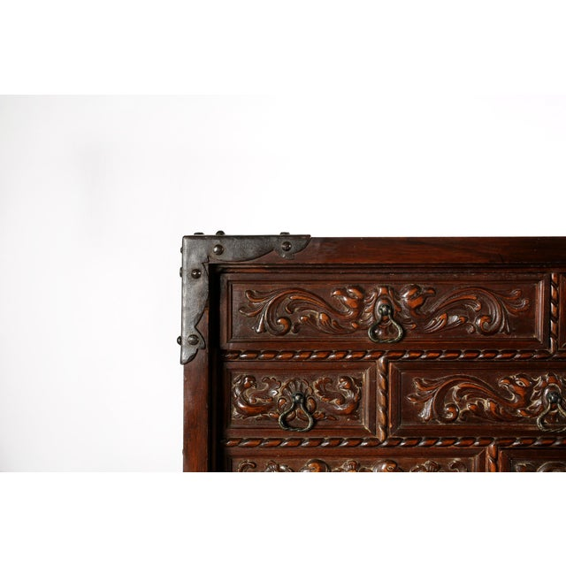 Baroque 8th Century Baroque Style Cabinet on Stand / Bargueno / Vargueno For Sale - Image 3 of 13