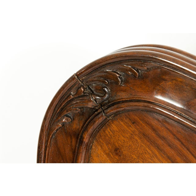 Chippendale Hand Carved Mahogany Matching Single Beds - a Pair For Sale - Image 11 of 13