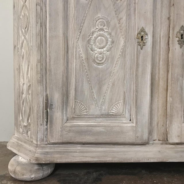 Metal 19th Century Country French Rustic Whitewashed Bookcase ~ Cabinet For Sale - Image 7 of 13