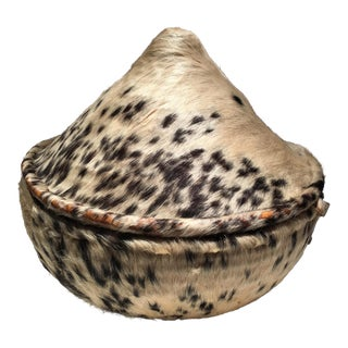 Hyena Fur Covered Basket For Sale