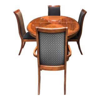 Mid-Century Modern Stanley Dining Room Table and Chairs For Sale
