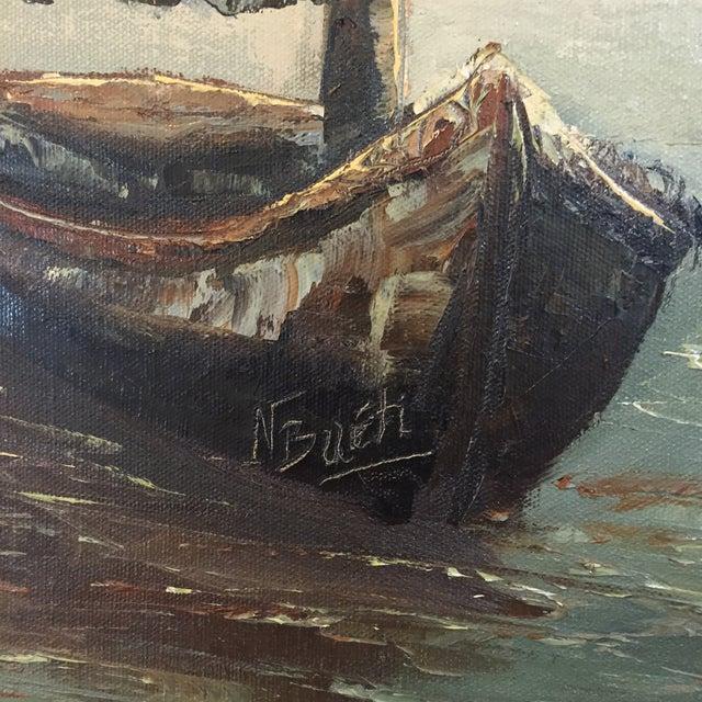 Original Oil Painting of Schooner by N. Bueti - Image 5 of 5