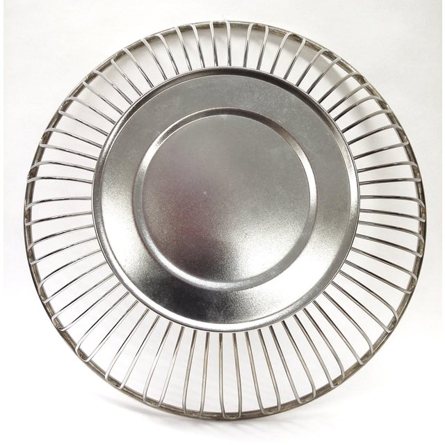 Mid-Century Silver Plate Openwork Modern Fruitbowl - Image 5 of 8
