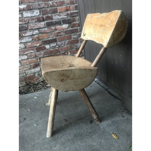 1800's Vintage Rustic Handmade Log Chair For Sale In Nashville - Image 6 of 10