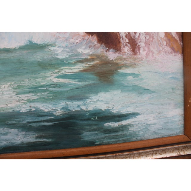 Ocean Scene, Oil Painting by Jean Papenfus For Sale - Image 5 of 11