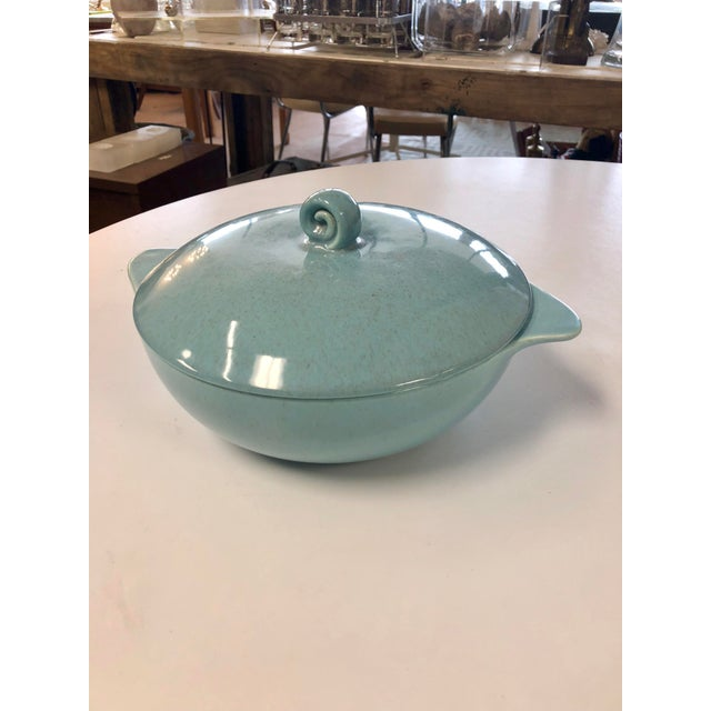 Ceramic 20th Century Contemporary Robin Egg Serving Dish For Sale - Image 7 of 7