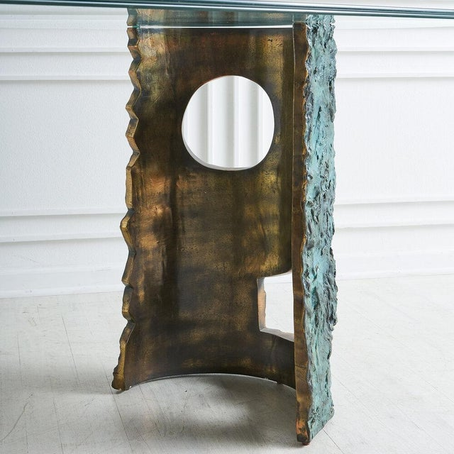 Bronze Brutalist Dining Table by Valenti Madrid For Sale - Image 10 of 13