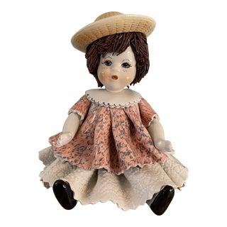 Rare Majolica Pottery Figurine For Sale