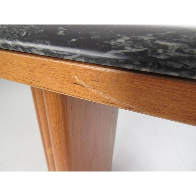 Mid-Century Teak and Marble Console Table by Bendixen Design For Sale - Image 10 of 11