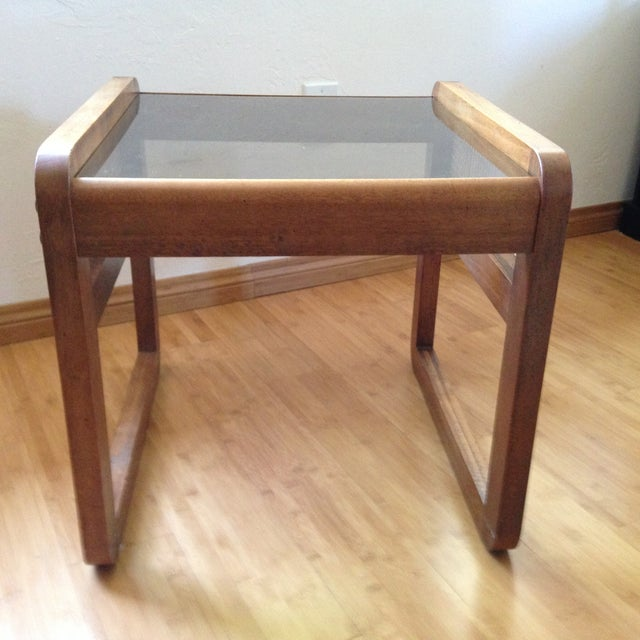 Teak and Rattan Side Table - Image 4 of 8
