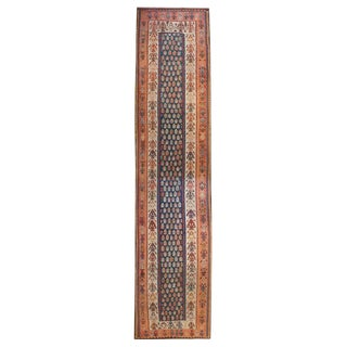 Exquisite Early 20th Century Kurdish Kilim Runner - 4′2″ × 17′