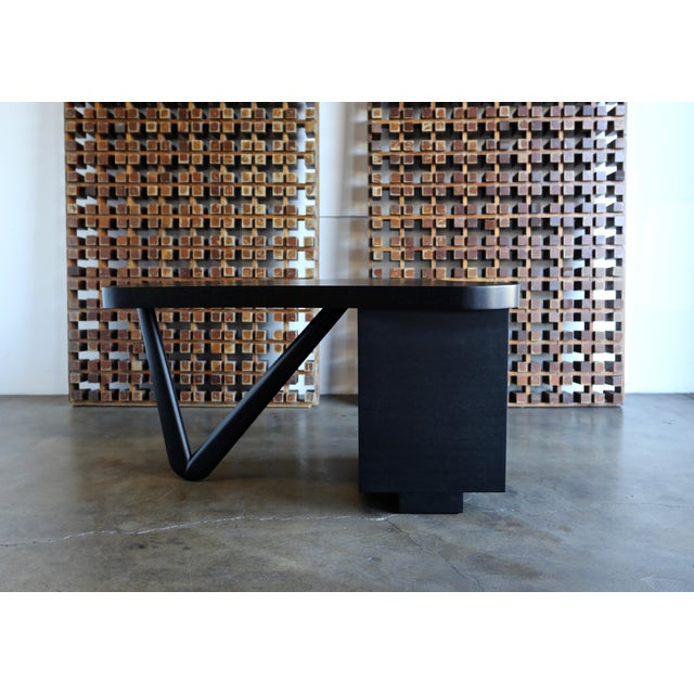 Brass Rare Desk by Paul Frankl for Johnson Furniture, Circa 1950 For Sale - Image 7 of 8