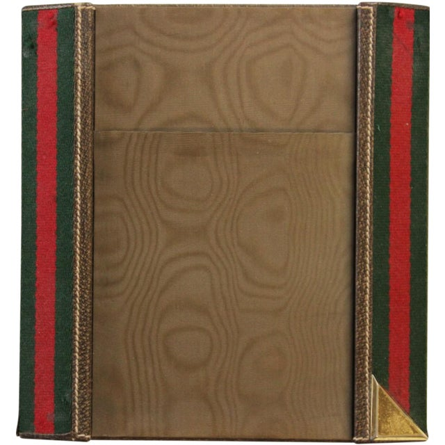 Gucci Green & Red Desk Blotter For Sale