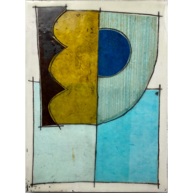 """""""Better Days"""" Encaustic Collage Installation by Gina Cochran - 9 Panel Set For Sale In Washington DC - Image 6 of 13"""