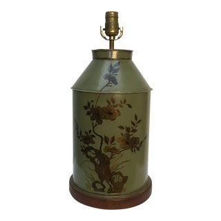 Tea Canister Tole Lamp For Sale