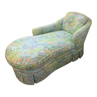 Kindel Lilly Pulitzer Blue Heaven Fabric Chaise For Sale
