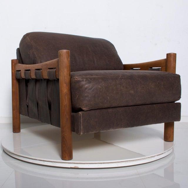 Mid Century Modern Craft Associates Brazilian Leather Lounge Safari Chair For Sale - Image 11 of 11