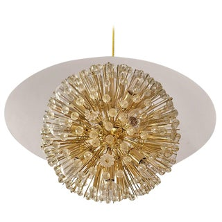 Half Ball Starburst Chandelier by Emil Stejnar For Sale