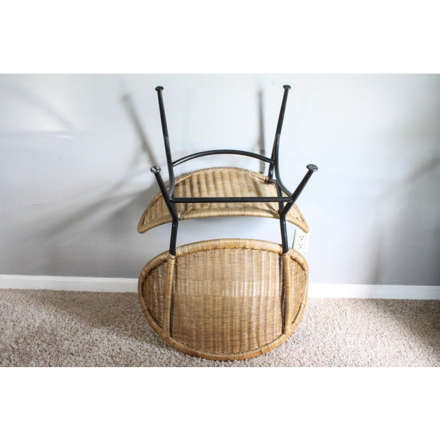 """Salterini Style Whicker """"Orbit"""" Shell Chair For Sale - Image 9 of 10"""