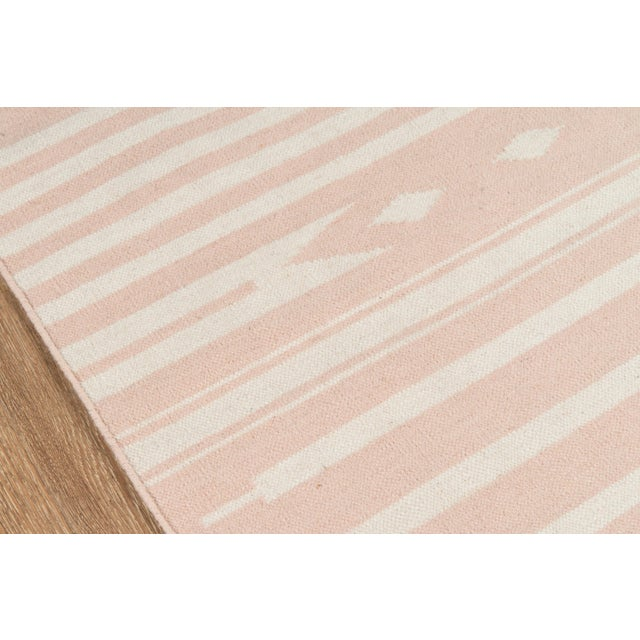 """Contemporary Erin Gates by Momeni Thompson Billings Pink Hand Woven Wool Area Rug - 3'6"""" X 5'6"""" For Sale - Image 3 of 7"""