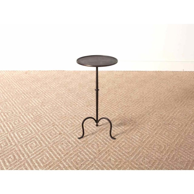 Iron drinks table with antique iron finish