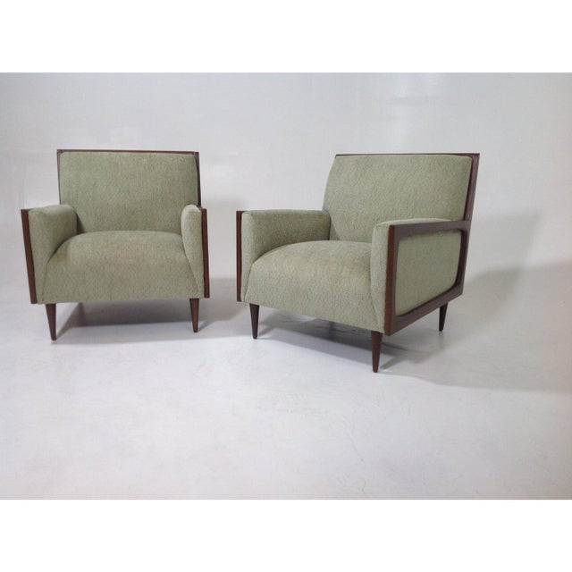 Mid-Century Modern Style Lounge Chairs - a Pair For Sale - Image 4 of 7