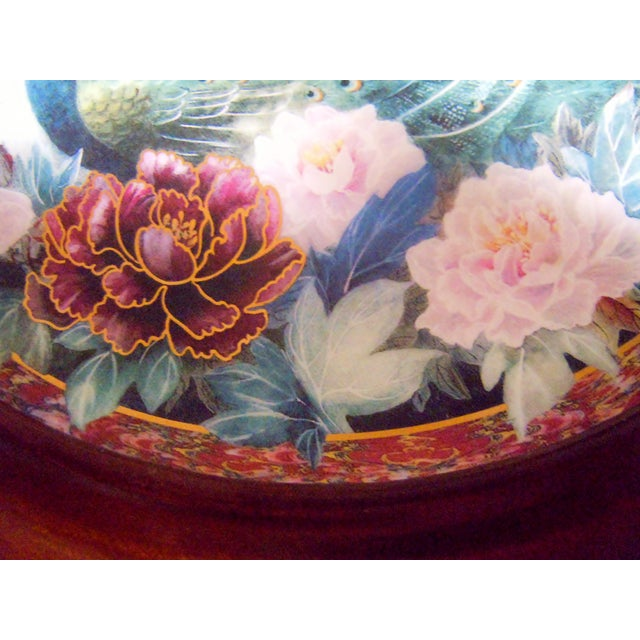 Van Hygan & Smythe Wood Frame With Lily Chang Plate For Sale - Image 4 of 11
