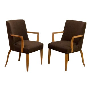 1940's Vintage Edward Wormley for Dunbar Armchairs- A Pair For Sale