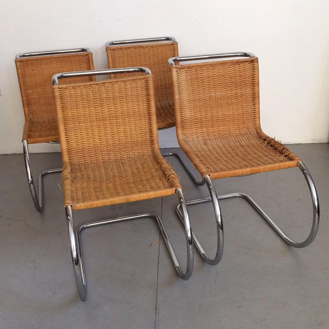 Mies Van der Rohe Mies Van Der Rohe Mr Chrome Chairs - Set of 6 For Sale - Image 4 of 9
