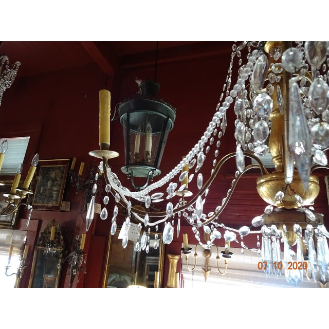 Metal 19th Century Italian Crystal Chandelier For Sale - Image 7 of 13