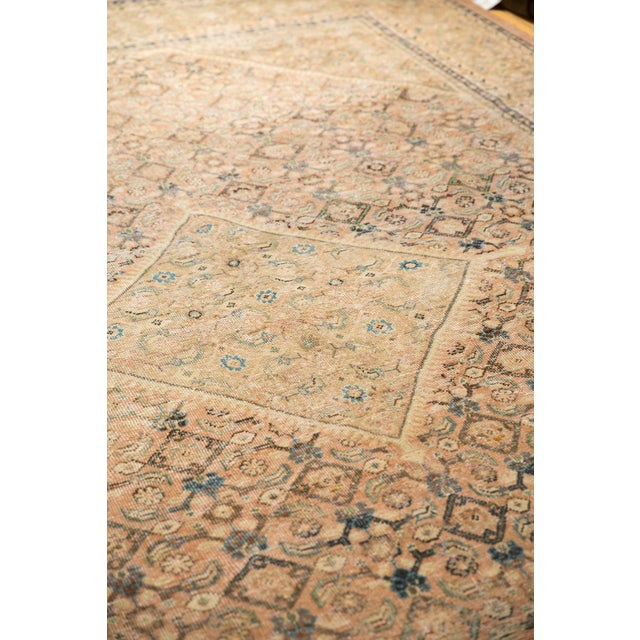 """Old New House Vintage Distressed Mahal Carpet - 9'9"""" X 12'8"""" For Sale - Image 4 of 13"""