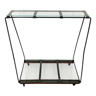 Industrial Style Metal Console Table For Sale
