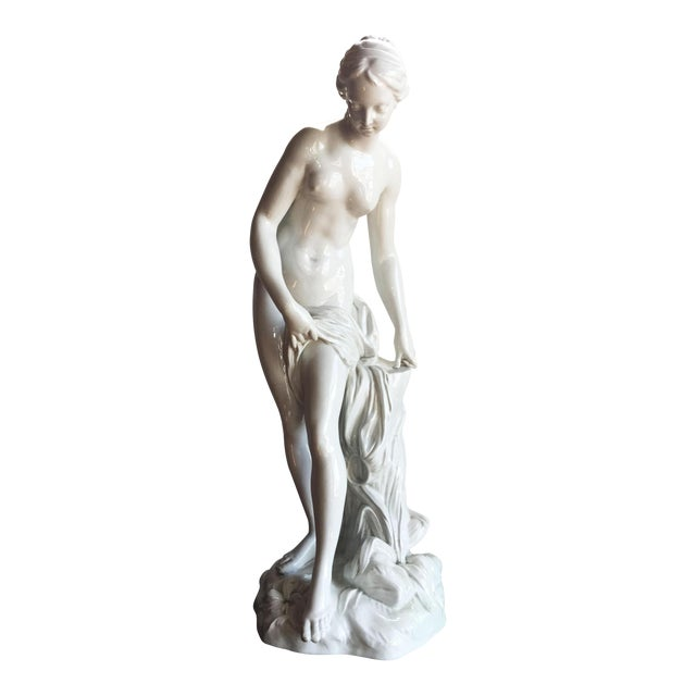19th C. Falconet Porcelain 'Bather' Sculpture - Image 1 of 10