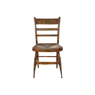 Early-19th-C. Side Chair w/ Rush Seat For Sale
